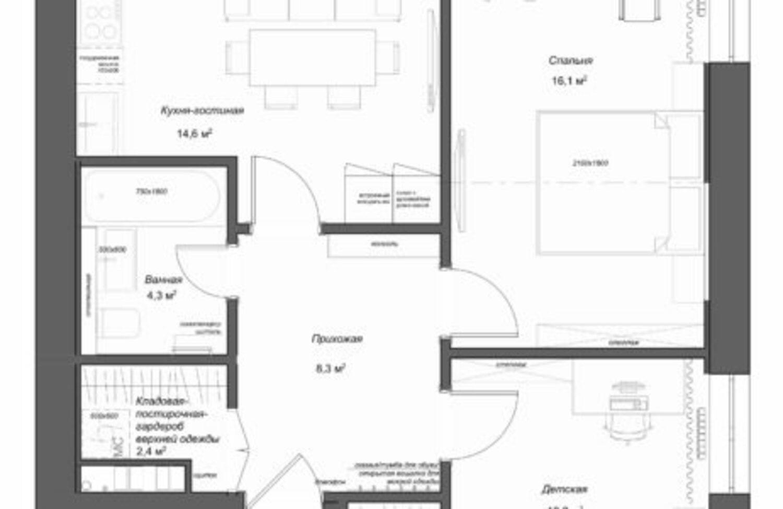 Обмеры и 3 варианта планировочного решения-3