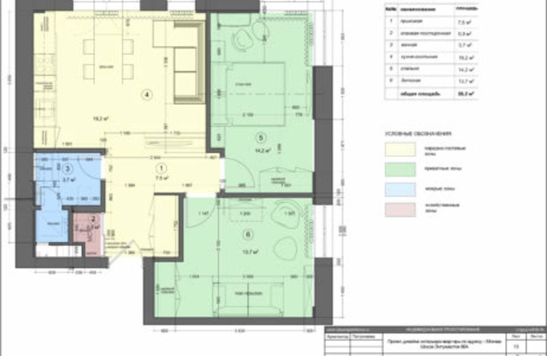 План с расстановкой мебели и сантехники с экспликацией